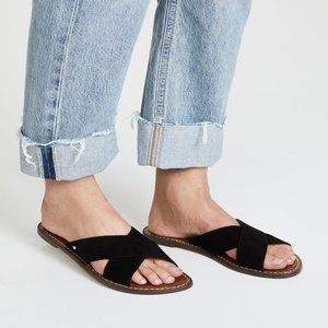 New Sam Edelman Gertrude Cross Strap Slide Sandal